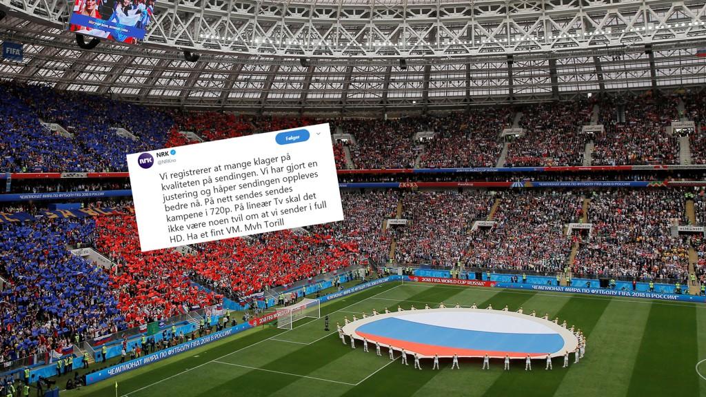 PROBLEMER: NRK opplever problemer under VMs åpningsdag.