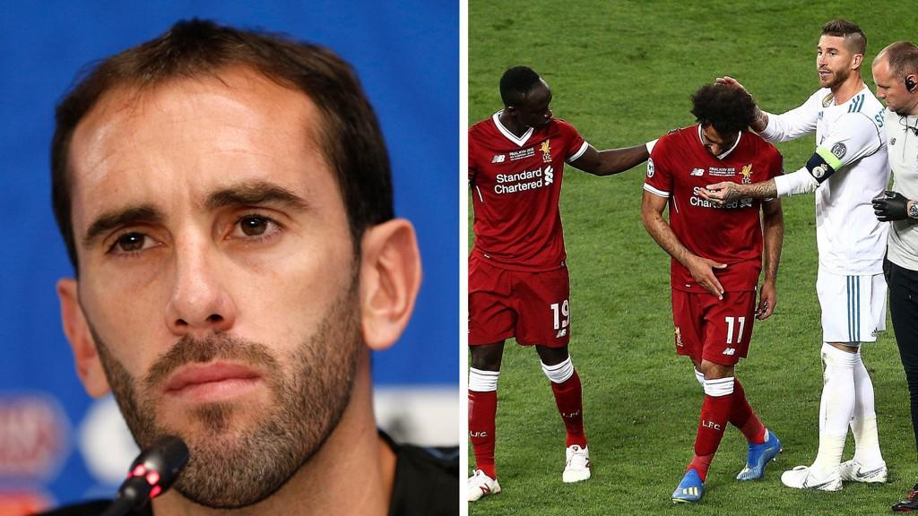 UFORSTÅENDE TIL RAMOS-KRITIKKEN: Diego Godin tror ikke Sergio Ramos hadde dårlige intensjoner da han skadet Mohamed Salah i Champions League-finalen.