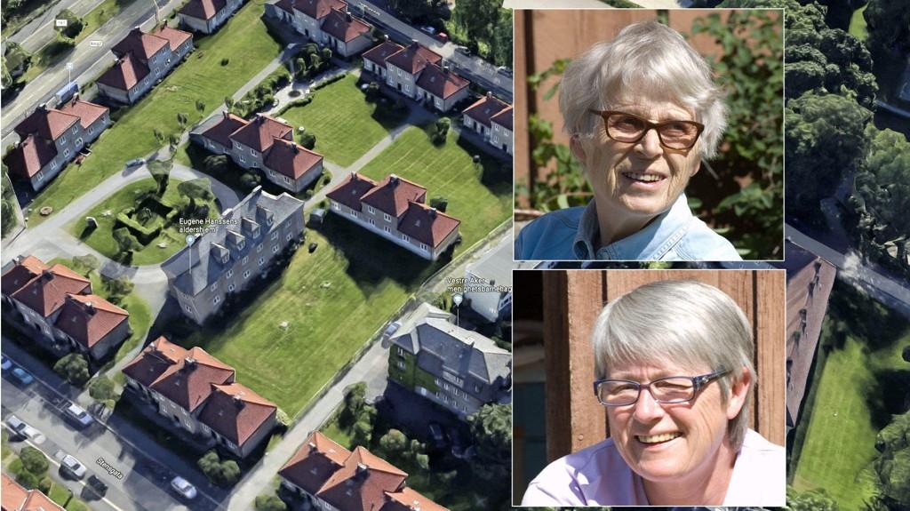 SKAL KASTES UT: Den snart 96-årige Ragnhild Godal (øverst) har fått beskjed om at hun må flytte mot sin vilje fra Eugene Hanssens aldershjem. Det reagerer datteren Ellen Godal (nederst) sterkt på i dette innlegget.