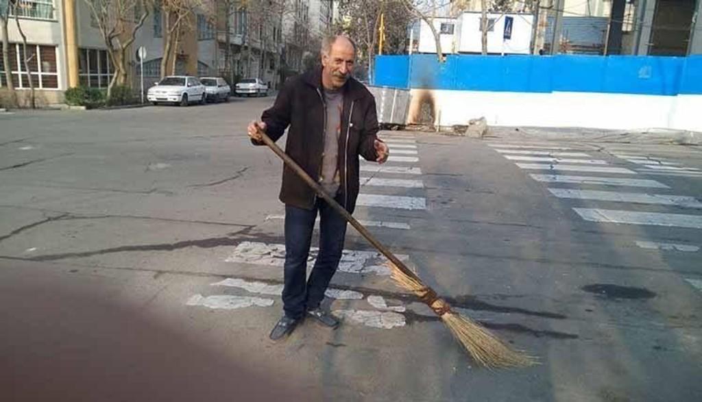 Mohammad Salas (51) avbildet kort tid før han ble arrestert i februar. Han ble dømt til døden i mars måned.