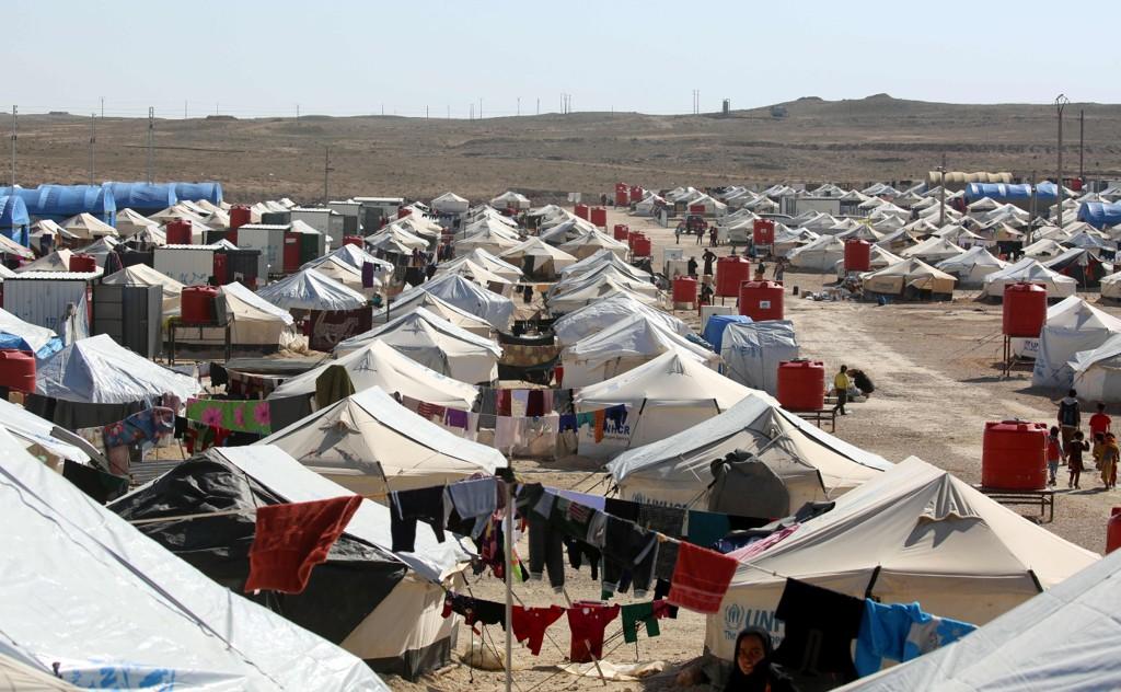 Foto fra flyktningleiren i Hol i Syria.