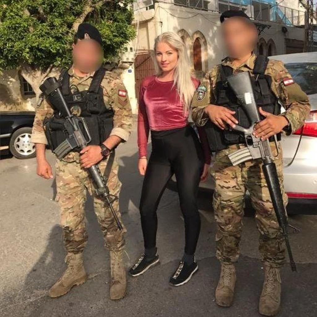 I Libanon er bevæpnede soldater et hverdagssyn.
