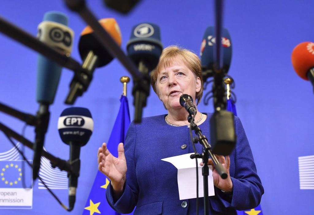 Tysklands statsminister Angela Merkel på EUs krisemøte i Brussel om asyl og innvandring. Foto: Geert Vanden Wijngaert / AP / NTB scanpix