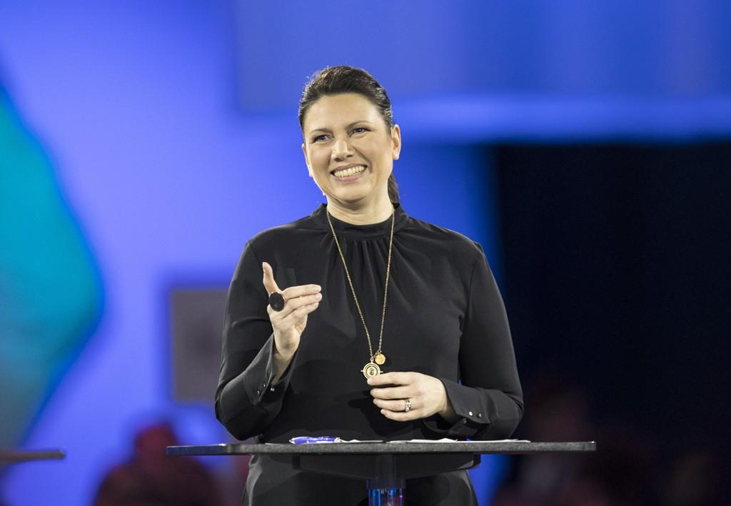 FORNØYD: Leder for Oslo Høyre, Heidi Nordby Lunde, er fornøyd etter den nye målingen.