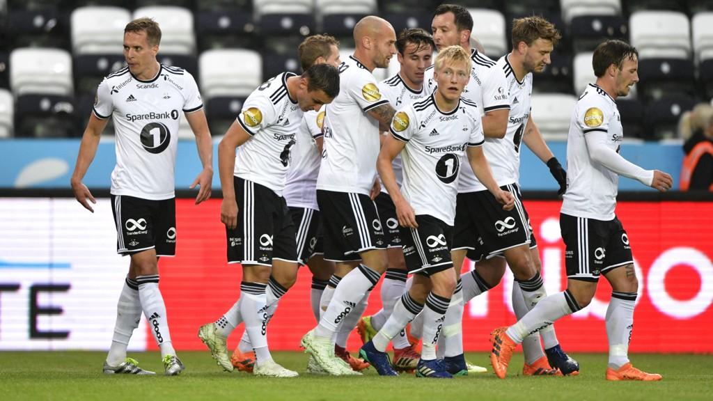 Rosenborg jubel i eliteseriekampen mellom Rosenborg og Vålerenga på Lerkendal sist søndag.