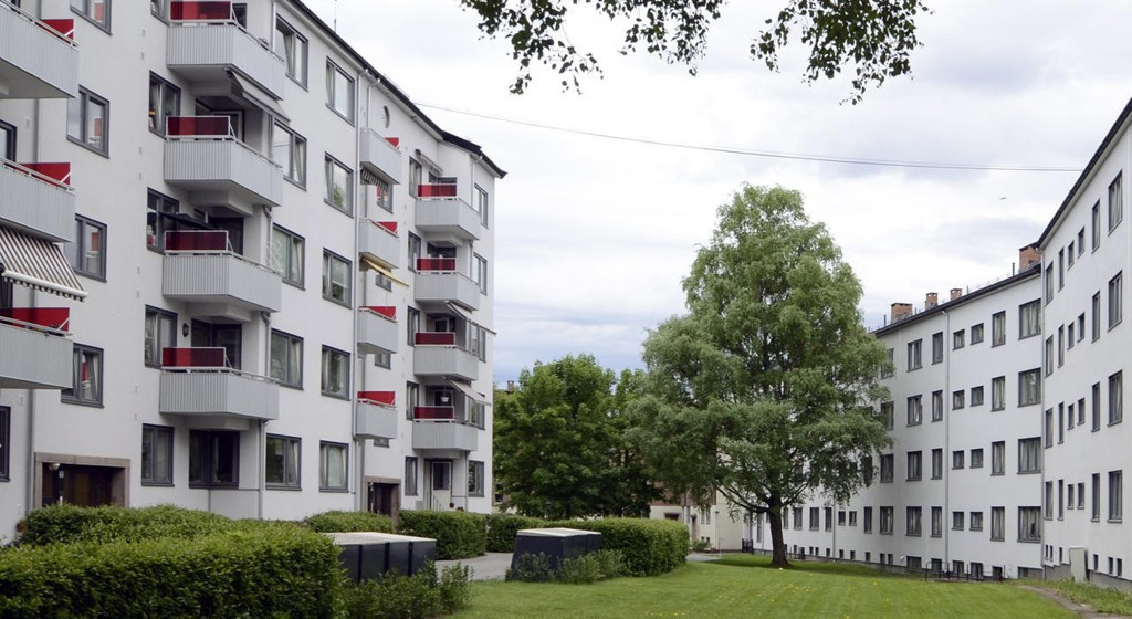 Prisen på OBOS-boliger i Oslo falt i juni, her fra Voldsløkka borettslag.