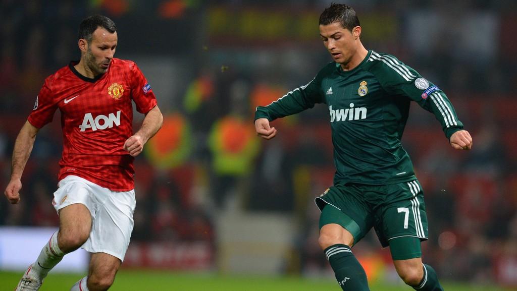 GAMLE LAGKAMERATER: Ryan Giggs og Cristiano Ronaldo spilte sammen i Manchester United fra 2003 til 2009.
