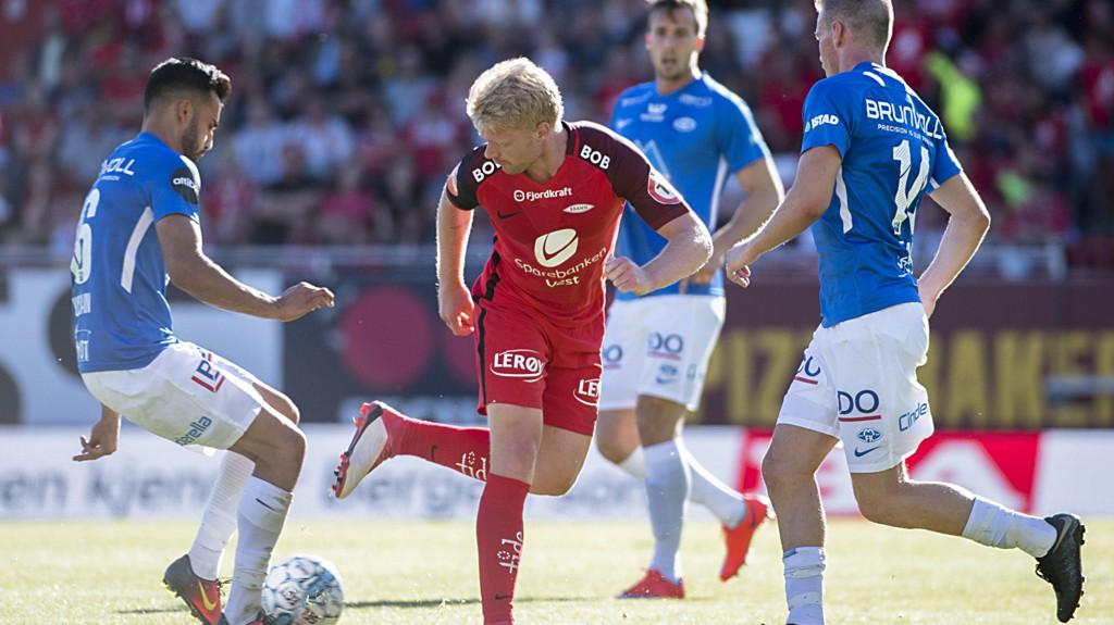 Sivert Heltne Nilsen og Brann hadde en tung dag på jobben hjemme mot Molde forrige søndag.