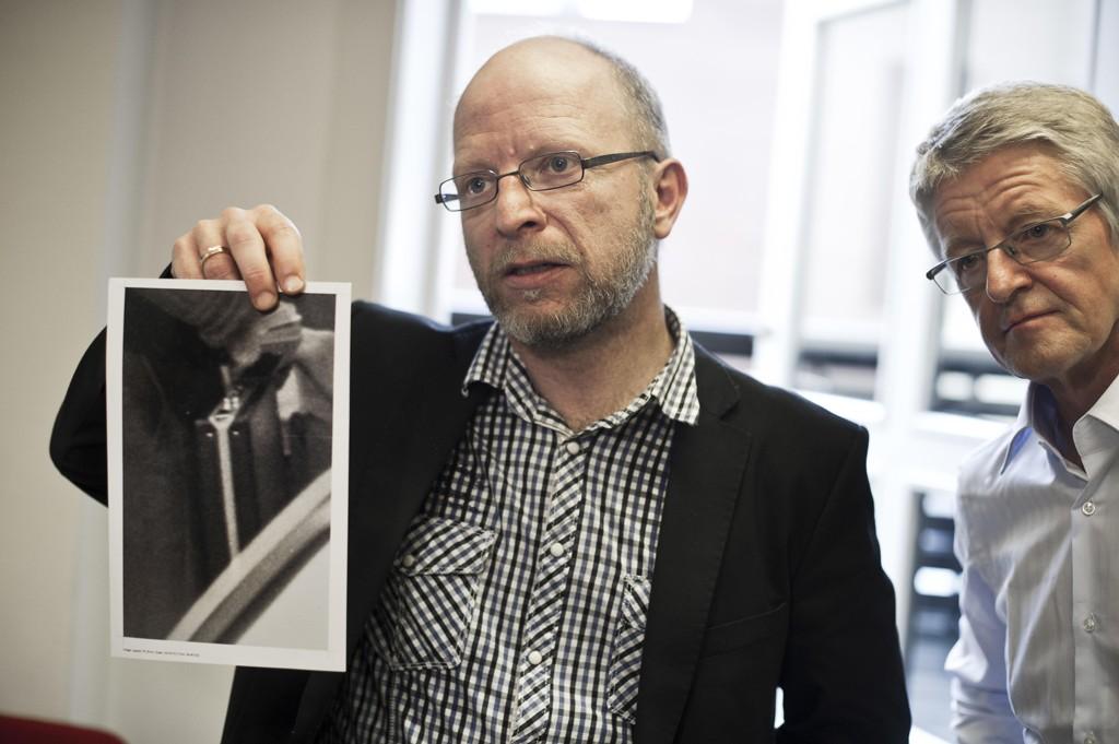 ANKER: Geir Selvik Malthe-Sørenssen var blant annet tiltalt for bedragerier mot Arne Treholts advokat Harald Stabell (t.h.)
