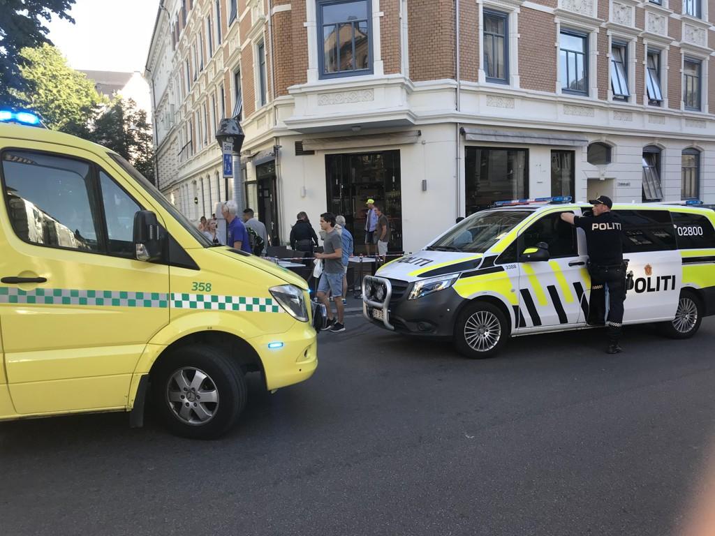 Knivstikkingen skjedde inne på Tiffani Café på Frogner i Oslo søndag 1. juli. Foto: Foto: Lars Eide / NTB scanpix