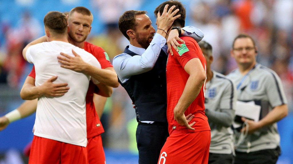 Gareth Southgate takker sine spillere etter kvartfinaleseieren mot Sverige.