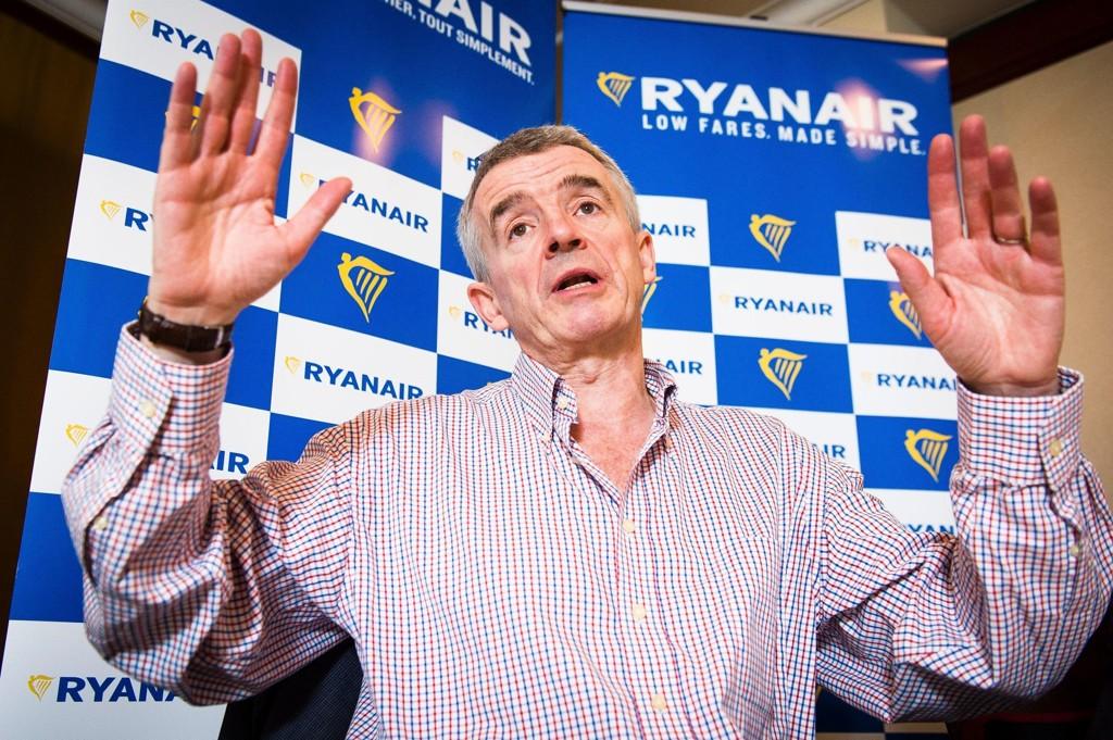MÅ KANSELLERE: Ryanair-sjef Michael O'Leary opplever den første irske pilotstreiken noensinne.