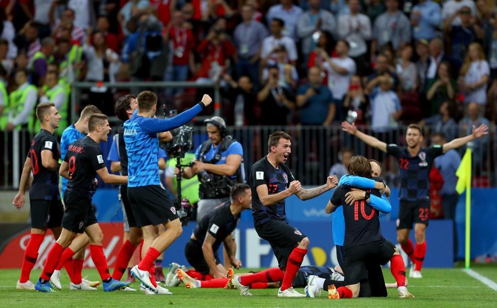 JUBEL: Kroatia er klare for VM-finalen.