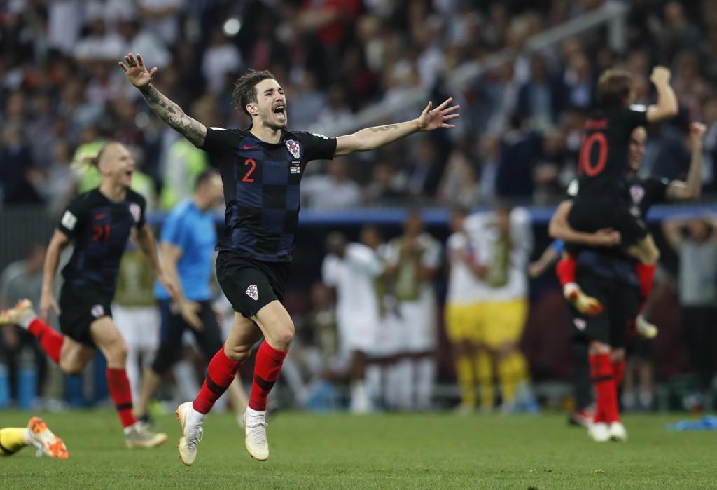 Sime Vrsaljko er stolt og optimist før VM-finalen mot Frankrike. Foto: Alastair Grant / AP / NTB scanpix