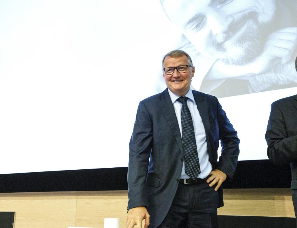 GODE TIDER: DNB-sjef Rune Bjerke har all grunn til å være fornøyd med tallene banken legger frem.