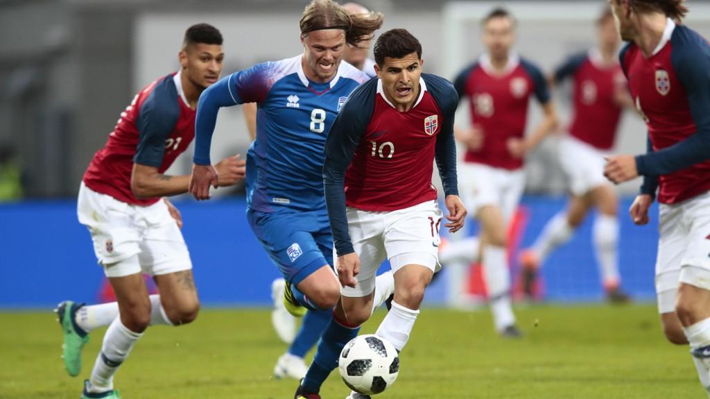 Tarik Elyounoussi her i aksjon for Norge under privatlandskampen mot Island 2. juni, scoret to av målene for AIK i helgens 4-1 seier mot Trelleborg.