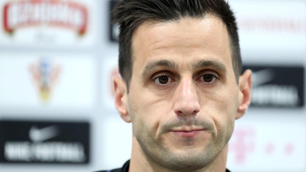 HJEM I SKAM: Nikola Kalinic ble sparket ut av Kroatias VM-tropp.