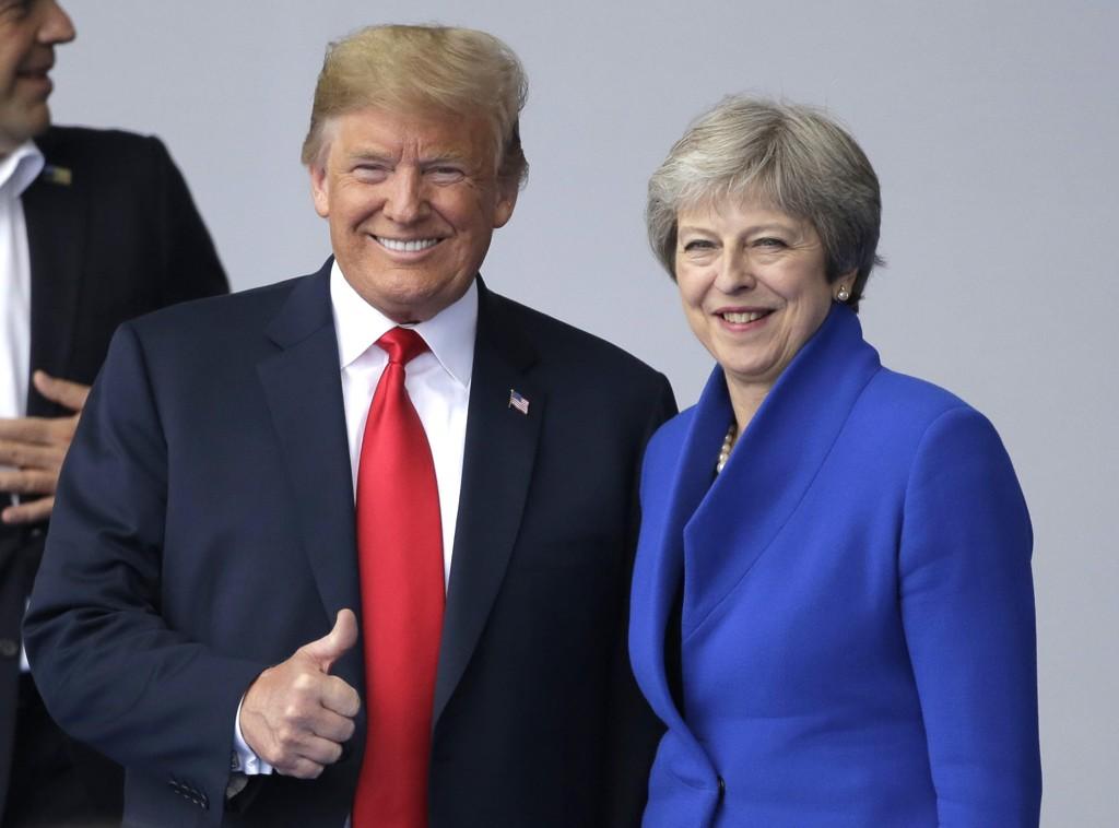 USAs president Donald Trump deltar torsdag på en formell middag med Storbritannias statsminister Theresa May ved Blenheim Palace i London.