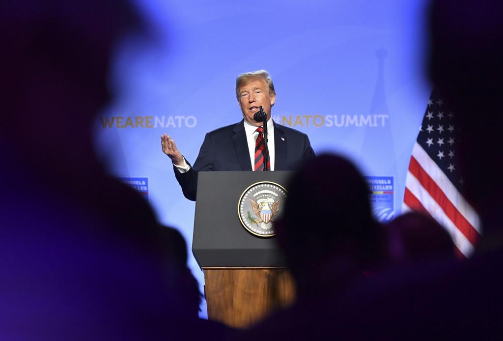 Donald Trump i Brussel torsdag. Foto: Geert Vanden Wijngaert / AP / NTB scanpix
