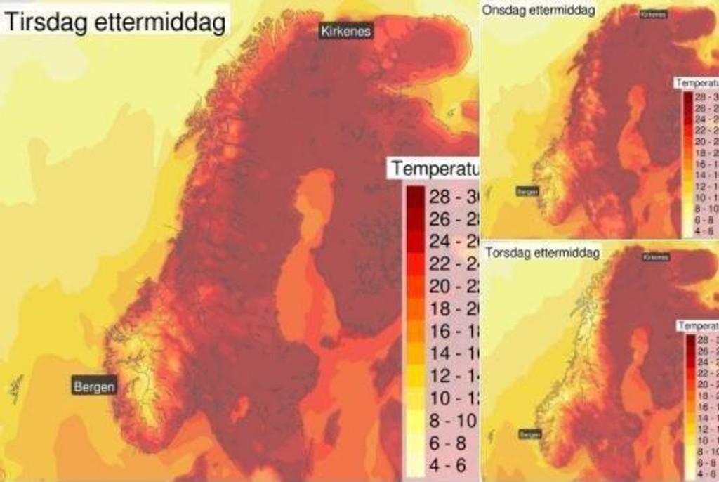 KAN BLI REKORD: Det blir varmt i Finnmark i dagene som kommer, og det kan til og med blir rekord.