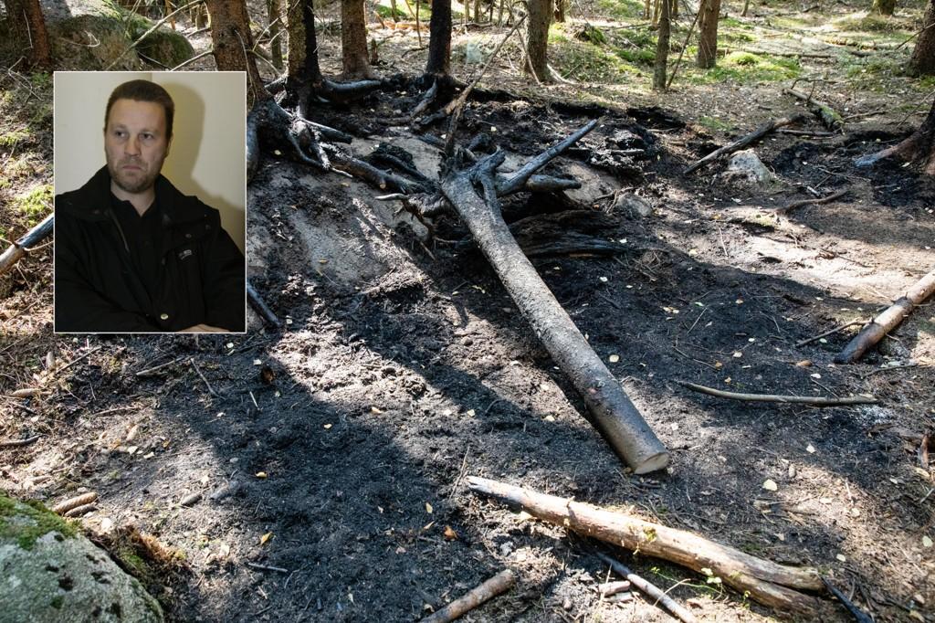 John Edvin Lie (innfelt), også kjent som Johnny Olsen, er siktet for drap og likskjending. Onsdag fant politiet et forbrent lik i et skogholt nordvest i Oslo.