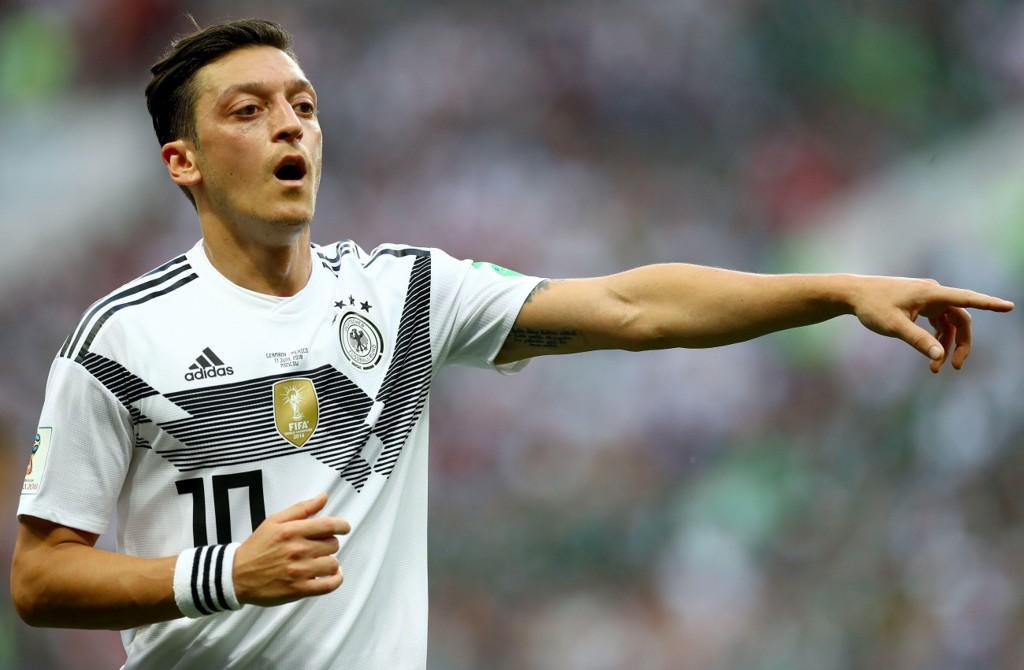 Mesut Özil i tysk landslagsdrakt under årets fotball-VM.