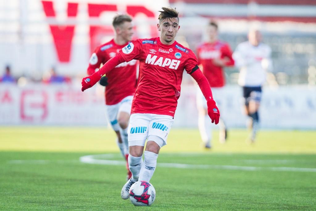 Kongsvingers Niklas Castro scoret tre av Kongsvingers fem mål tirsdag. Bildet er fra en tidligere kamp. Foto: Fredrik Hagen / NTB scanpix