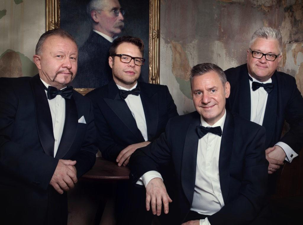 Palle Wagnberg, Hermund Nygård, Dave Edge og Staffan William-Olsson - stilige herrer på alle vis. Foto: Patricia Varela