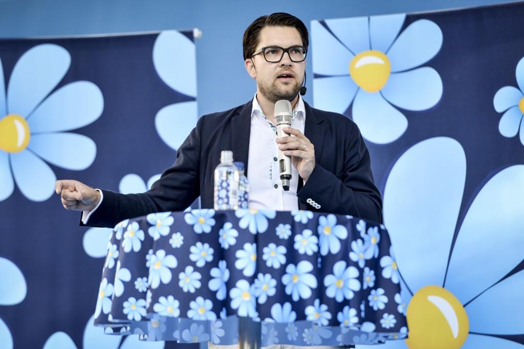 Sverigedemokraternas partileder Jimmie Åkesson.