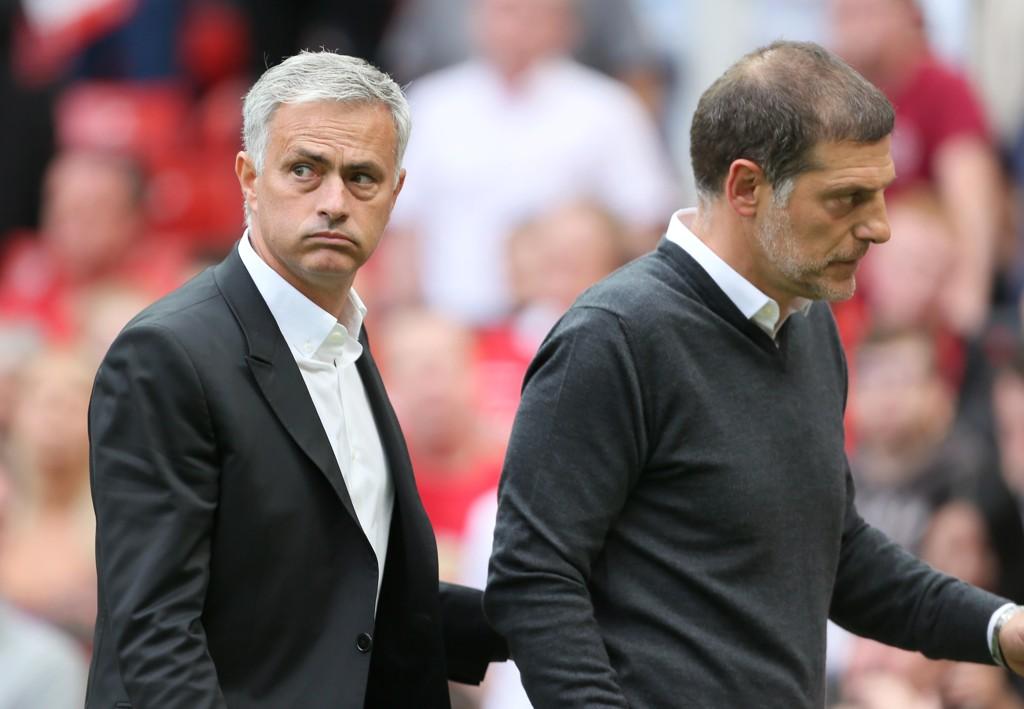4-0-SEIER: Jose Mourinhos Manchester United startet forrige sesong med en 4-0-seier over Slaven Bilic' West Ham.