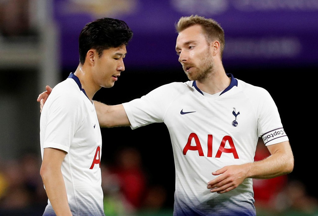 Son Heung-min og Christian Eriksen er klare til serieåpningen mot Newcastle lørdag. Foto: REUTERS/Eric Miller