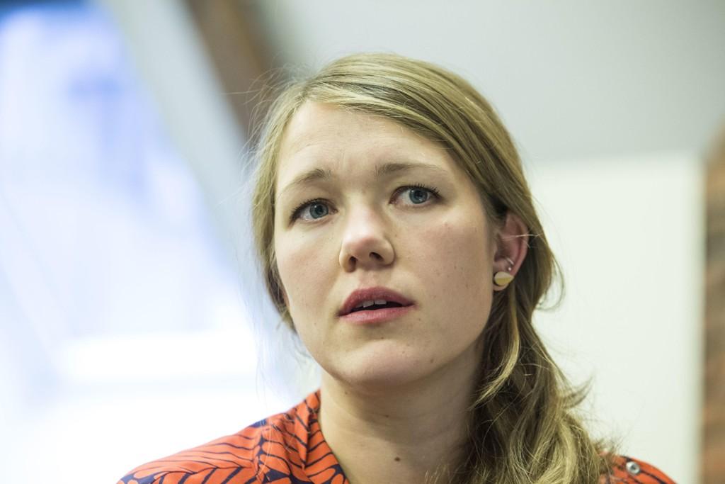 Stortingsrepresentant og nasjonal talsperson Une Bastholm i Miljøpartiet De Grønne mener at Per Sandberg (Frp) må gå av som statsråd. Foto: Mariam Butt / NTB scanpix