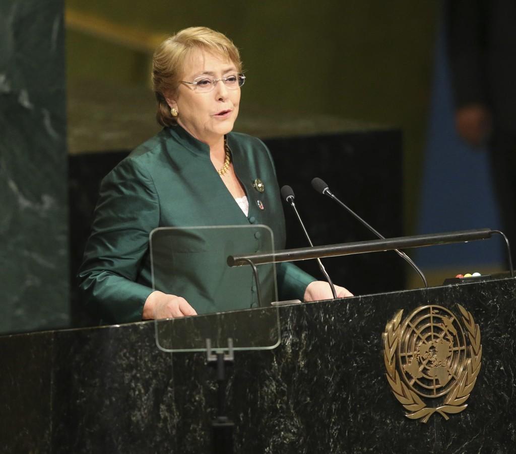 Chiles tidligere president Michelle Bachelet er valgt til menneskerettssjef i FN. Foto: AP / Seth Wenig / NTB scanpix