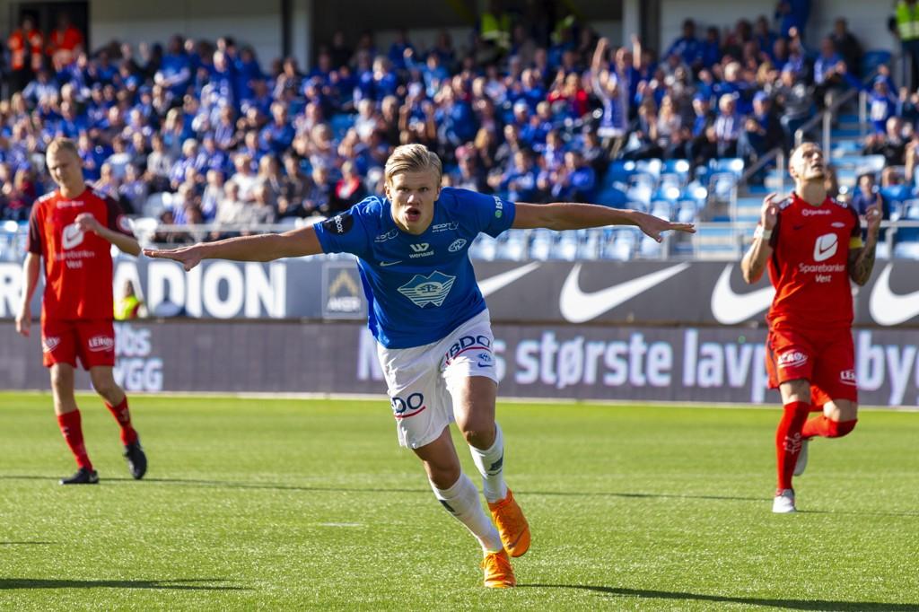 SOLGT: Erling Braut Haaland er solgt fra Molde til Red Bull Salzburg, men fullfører sesongen på Aker Stadion.