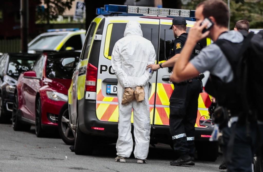 Politiet rykket ut med store styrker etter skyting på Sagene nord i Oslo torsdag. To 19-åringer ble pågrepet.