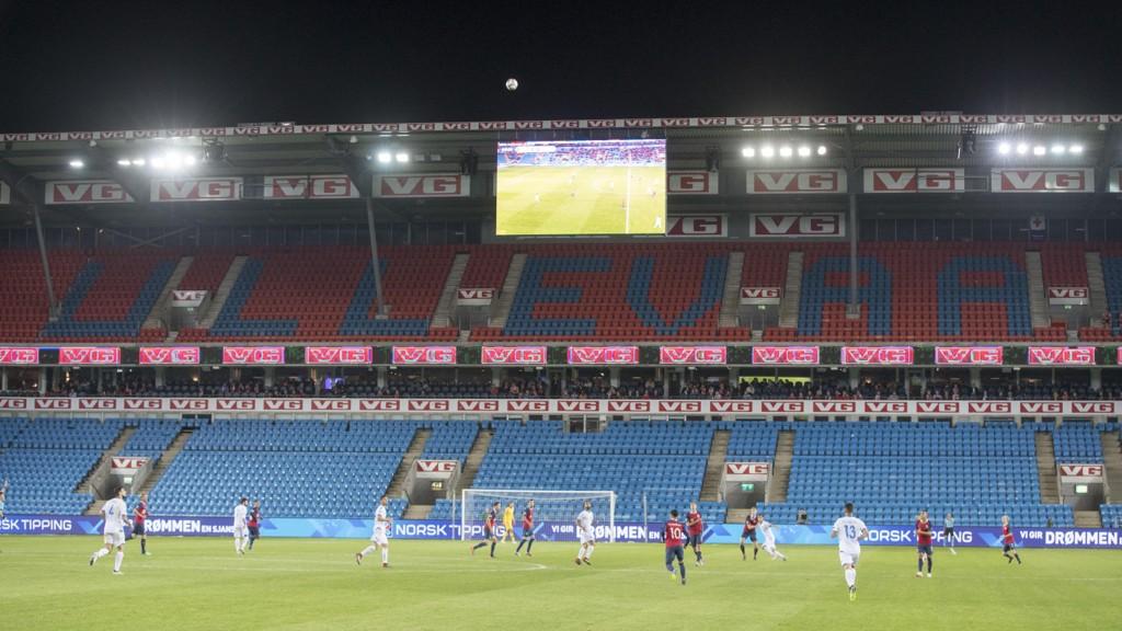 TOMME TRIBUNER: Det var mange ledige plasser på Ullevaal Stadion da Norge spilte mot Kypros torsdag kveld.