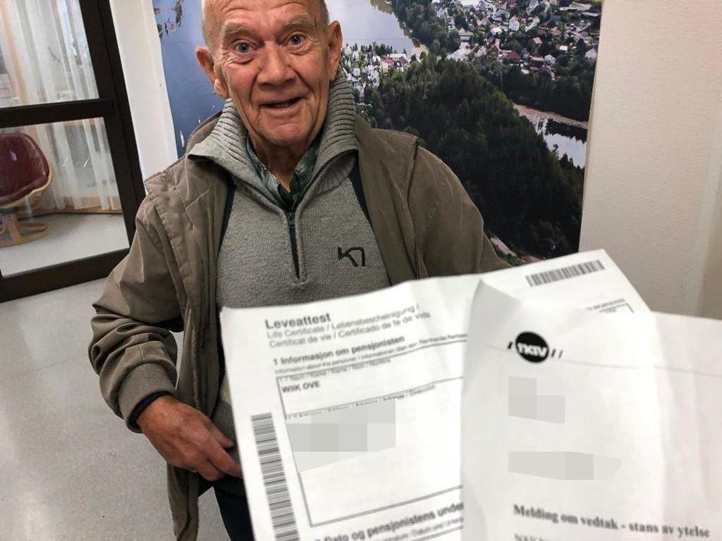 HAN RØRER PÅ SEG: NAV erklærte han død og stoppa pensjonsutbetalingane. Foto: Arve Solbakken (Firdaposten)