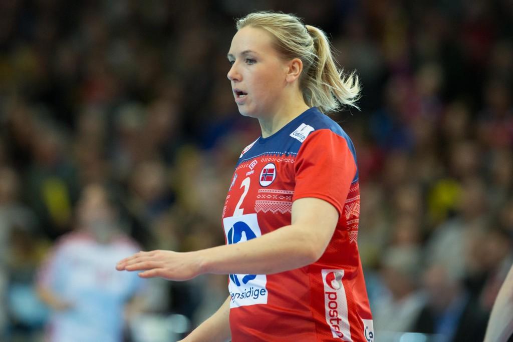 Larviks Mari Molid ble kampens store spiller med sine åtte mål mot gamleklubben Byåsen onsdag. Foto: Fredrik Hagen / NTB scanpix