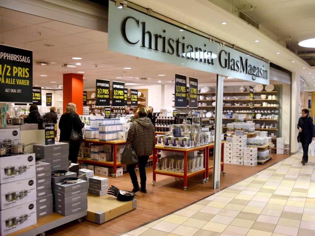 LAGT NED: Butikken i Kristiansund er en av ti Christiania Glasmagasin-butikker som er lagt ned det siste året.