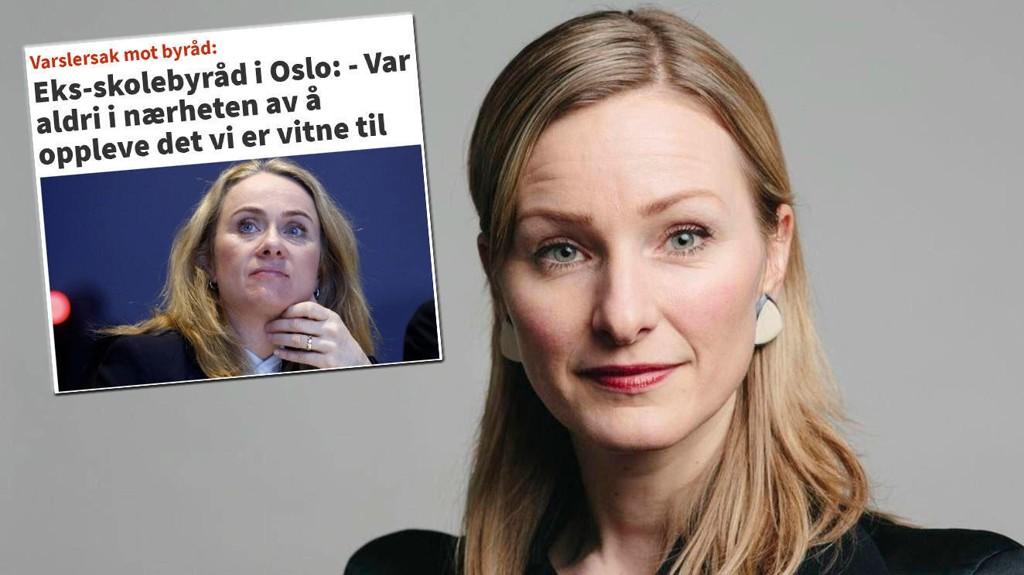 ORDKRIG: Forgjengeren avviser SV-byråd Inga Marte Thorkildsens påstand om at det har vært mangeårig konflikt med Utdanningsetaten.