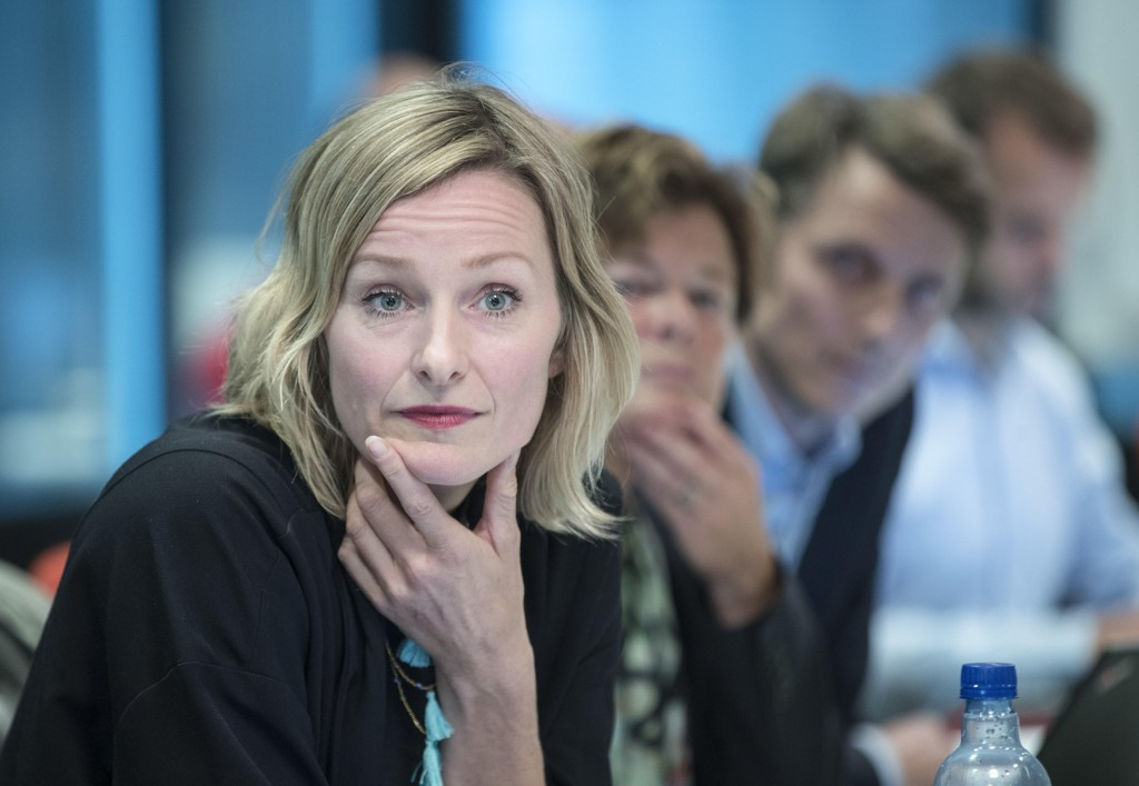 Oslo 20180913. Byråd for oppvekst og kunnskap Inga Marte Thorkildsen (SV) under en høring torsdag. Foto: Vidar Ruud / NTB scanpix