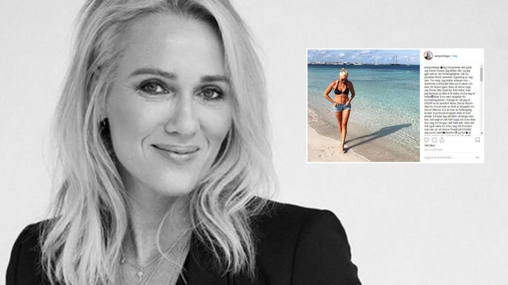 Tidligere KK-redaktør og nåværende kreativ leder i TINE, Gjyri Helén Werp, får ros på Instagram for sitt innlegg om hvorfor hun trener.