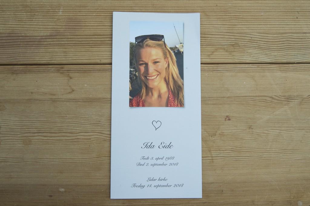 Langrennsløperen Ida Eide begraves fra Lidar kirke i Øystre Slidre fredag klokken 14.