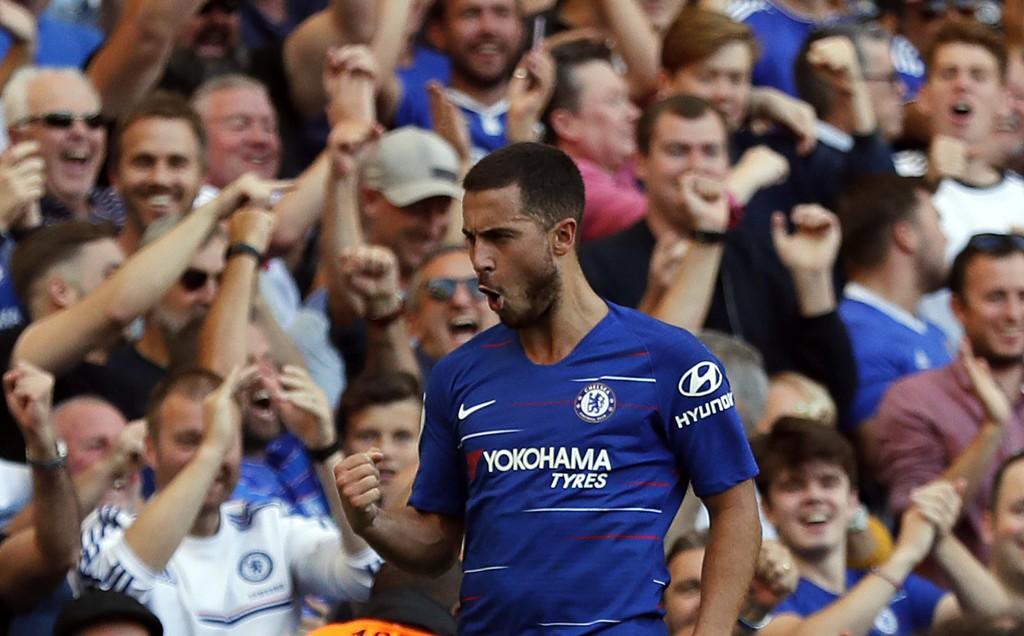 Eden Hazard har vært utrolig god i de første kampene for Chelsea.(AP Photo/Frank Augstein)