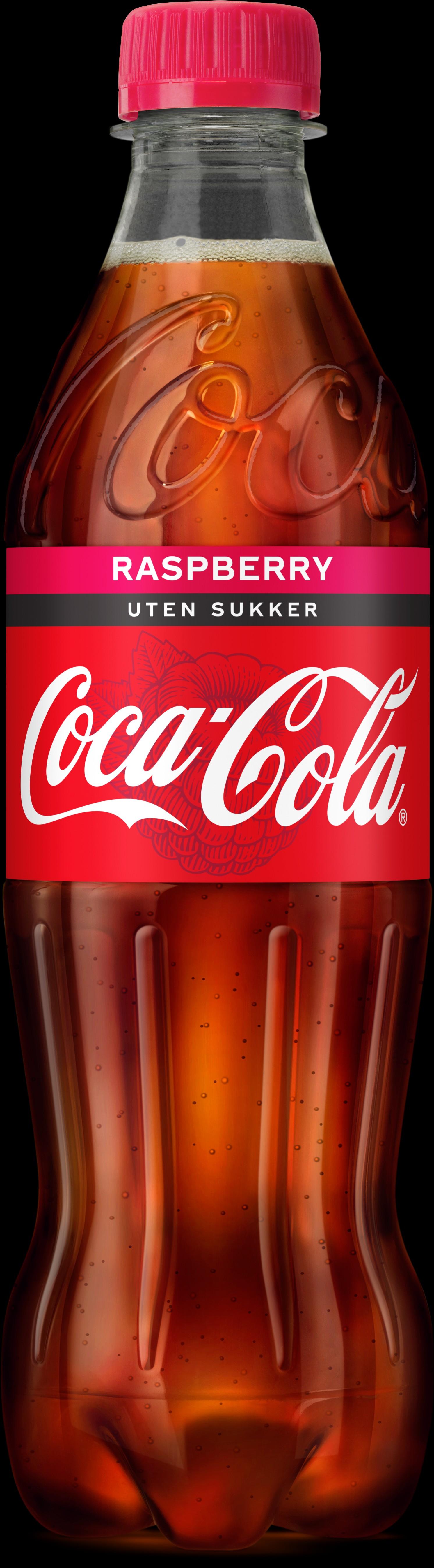NY SMAK: Slik ser nye «Coca-Cola Raspberry uten sukker» ut.
