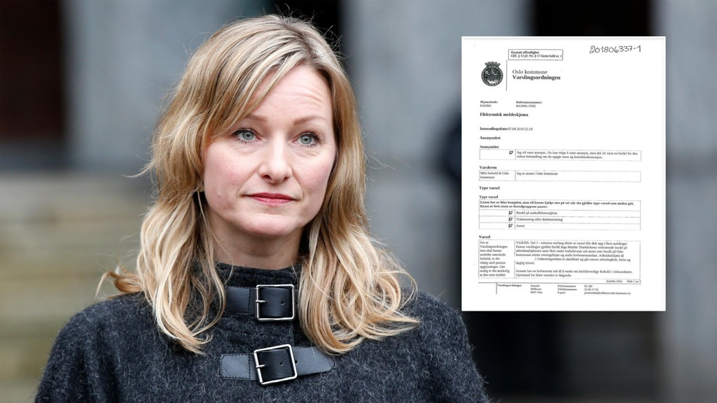 GRÅTER OG SKRIKER: The newspaper has gained access to the reports against the school bureau Inga Marte Thorkildsen (SV).