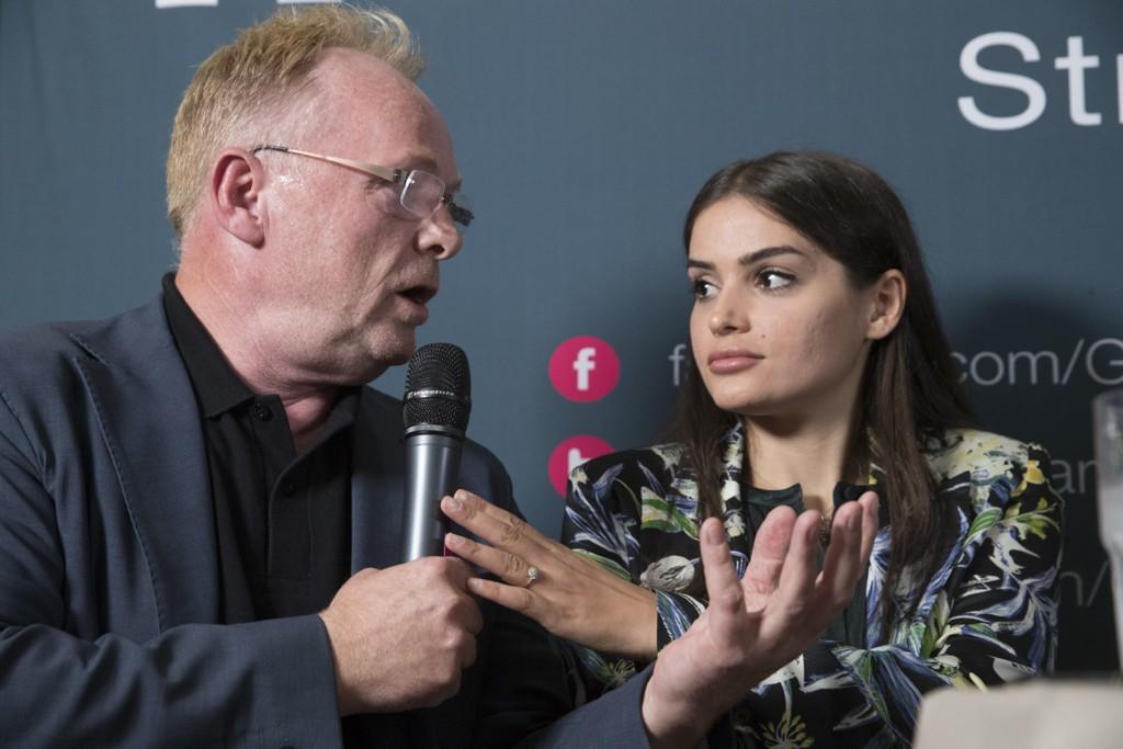 Per Sandberg og kjæresten norsk-iranske Bahareh Letnes.