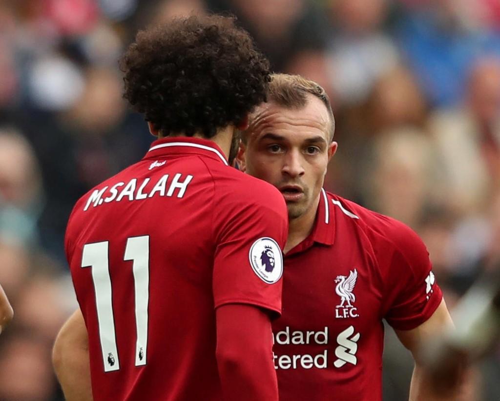 DEBUTERTE FRA START: Xherdan Shaqiri imponerte i sin første Premier League-kamp fra start for Liverpool.