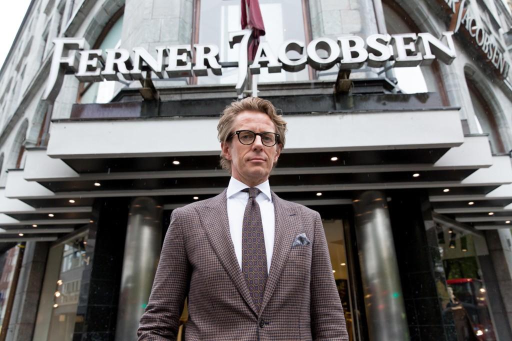 FÆRRE KUNDER. Carl-Christian «Calle» Ferner, butikksjef, deleier og tredje generasjons driver av Ferner Jacobsen.