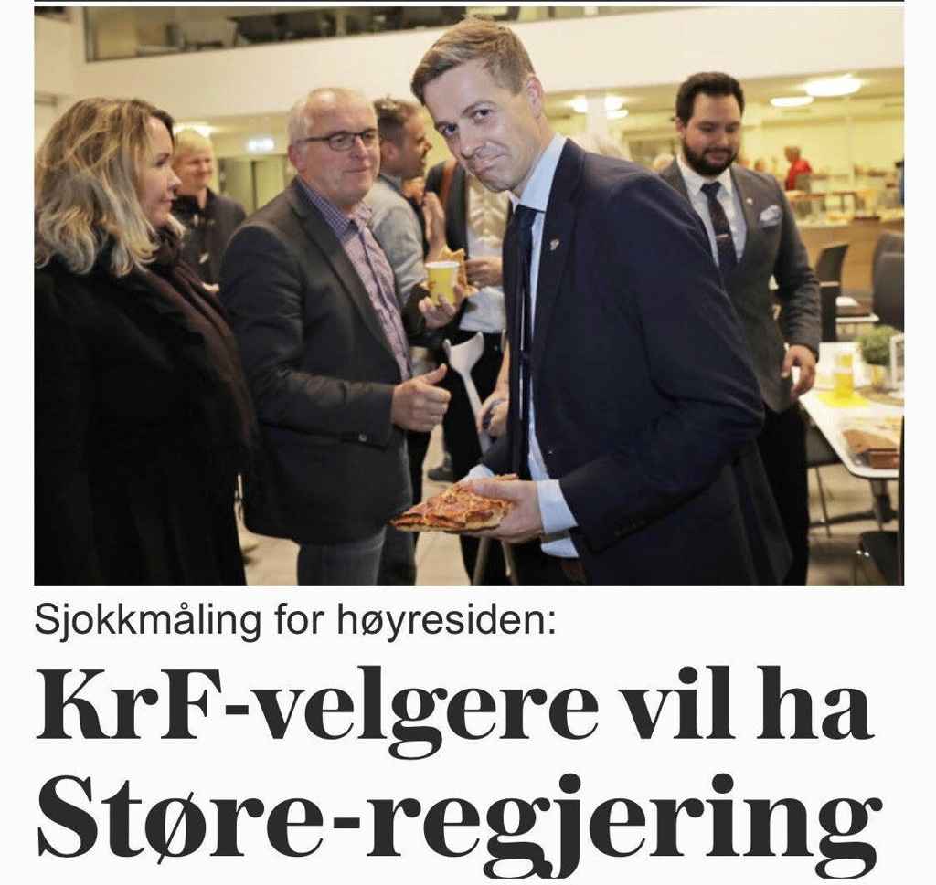 UTEN DEKNING: Påstanden om at KrF-velgere vil ha Støre-regjering har ingen faglig dekning.